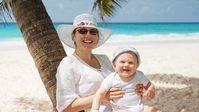 Protege a los niños del sol aunque esté nublado