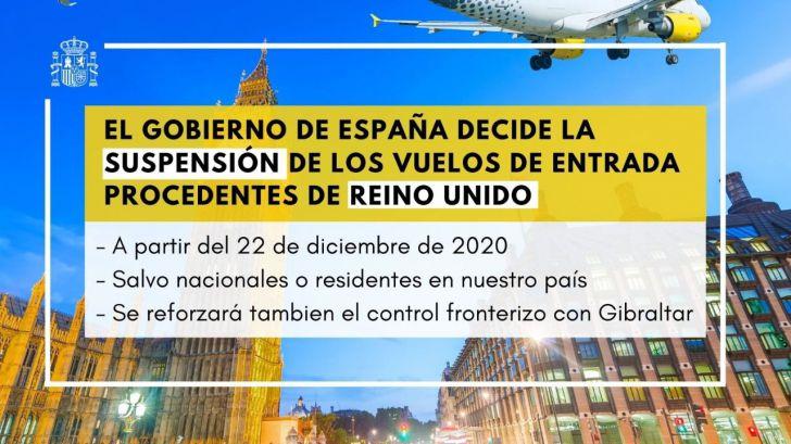 España también suspende vuelos con Reino Unido y refuerza la frontera con Gibraltar