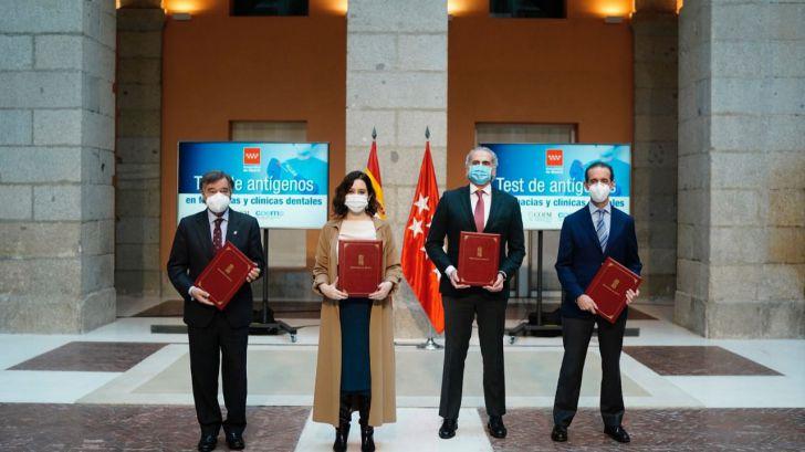 Madrid hará gratis test de antígenos en farmacias y clínicas dentales