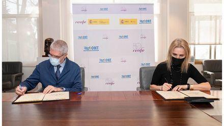 La ONT y Renfe renuevan su colaboración para el traslado de órganos en AVE