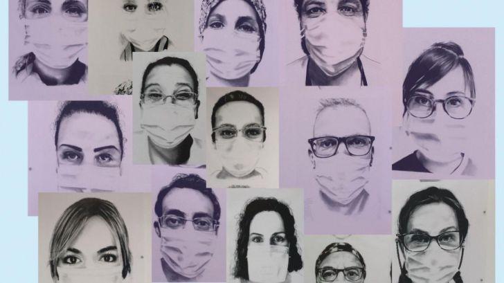 El Hospital Puerta de Hierro homenajea a sus profesionales en el primer aniversario de la pandemia