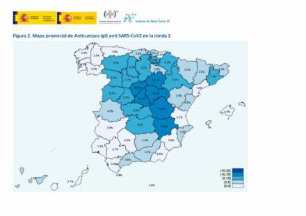 La inmunidad de España frente al SARS-Cov2 crece hasta el 5,21%