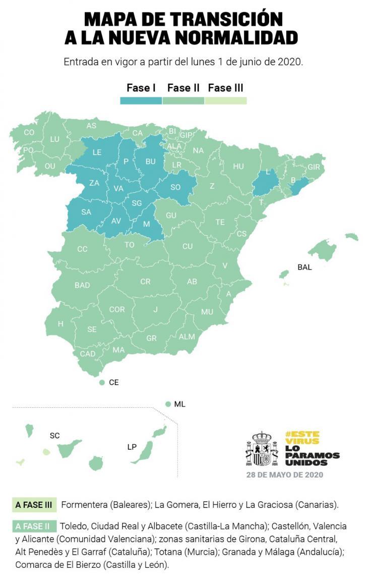 Castilla y León, Madrid, Barcelona y Lleida se quedarán en Fase 1 el próximo lunes