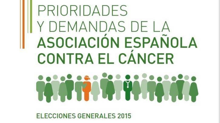 La AECC reclama a los partidos políticos un compromiso real con los afectados de cáncer y la prevención de esta enfermedad